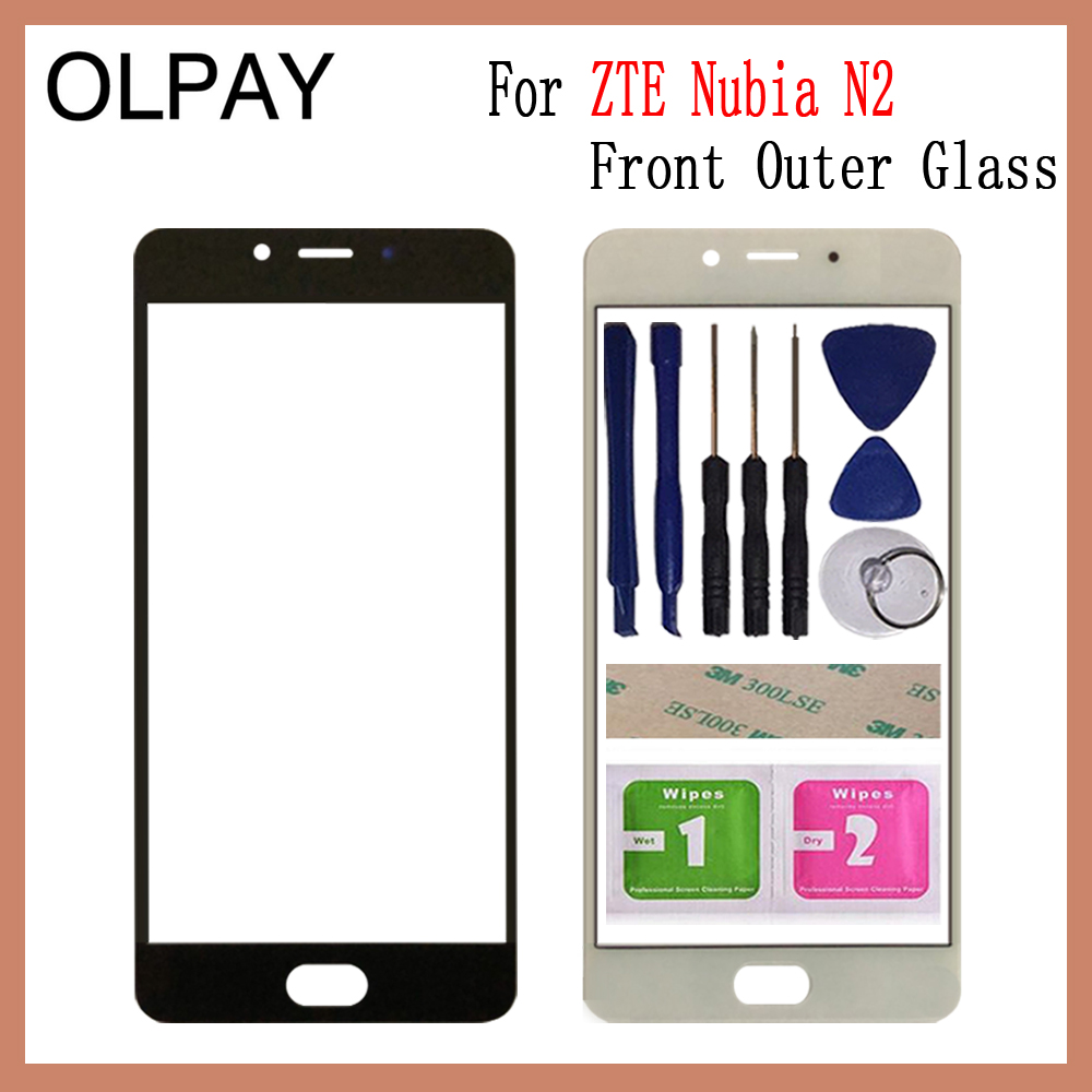 """Front Panel Glass 5.5"""" inch For ZTE Nubia N2 NX575J LCD Screen Touch Screen Glass Lens Replacement Repair Spare(China)"""