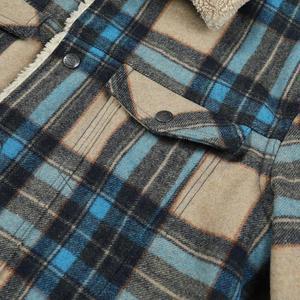 Image 5 - Simwood 2020冬の新ムートントリミングチェックウール混紡ジャケット男性ファッション暖かいプラスサイズコートSI980766