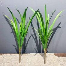 42cm Künstliche Orchidee Gras Pflanzen Schlanke Blätter Bündel Indoor Und Outdoor Kunst Landschaftsbau Mit Gras Hotel Büro Wohnkultur