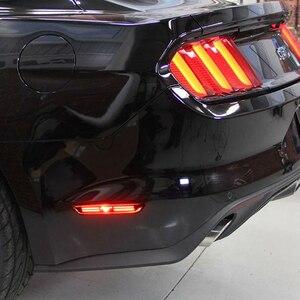 Image 5 - เลนส์รมควันสีแดงLED 48 SMD 3D Mustangออกแบบด้านหลังกันชนด้านข้างสำหรับ 2015 2018 Ford Mustang Fenderไฟเครื่องหมายด้านข้าง