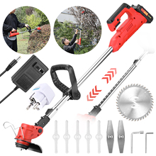 Grass Trimmer Cutter Lawn-Mower Garden-Tool Cordless Pruning 21V Household Portable