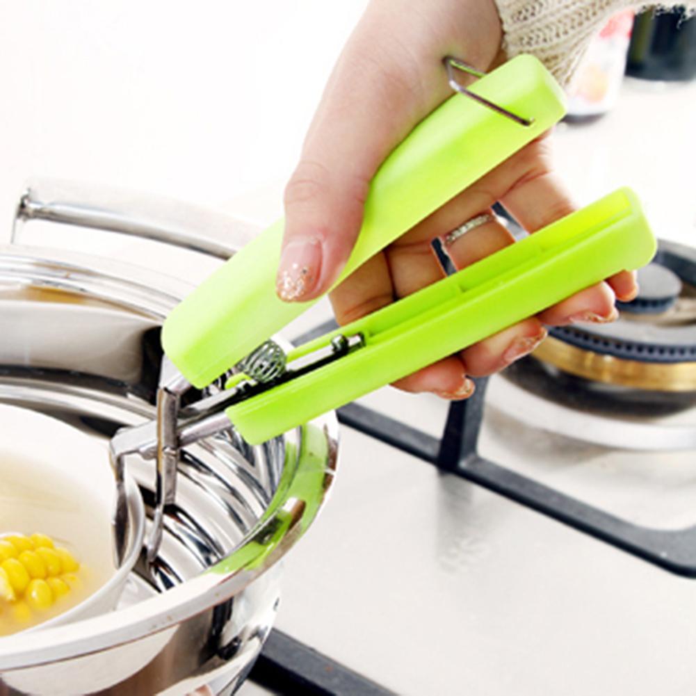 Aço inoxidável anti-escalda tigela clipe placa tigela prato pote titular portador braçadeira clipe abs lidar com proteção de cozinha em casa gadgets