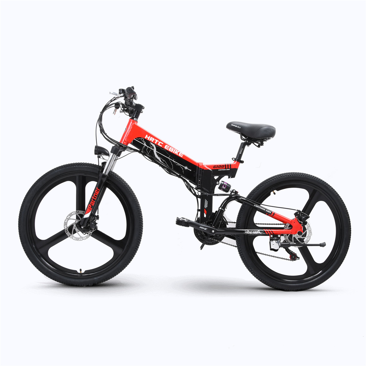 26inch electric mountain bike 48V hidden lithium battery 400w rear wheel motor fold ebike Soft tail suspension electric bike
