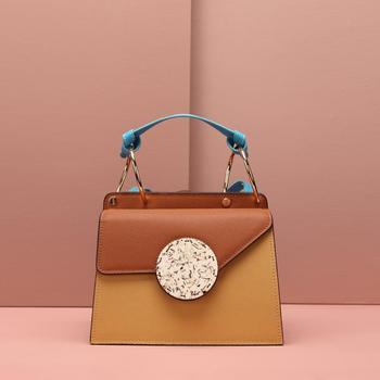 Luxury Lady Organ Bag Women Square Handbag Cowhide Designer Mini Flap Patchwork Leather Crossbody-bag Shoulder Messenger Bags