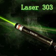 Лазерная указка зеленая 532 нм 5 мВт 303 лазерная ручка высокая мощность регулируемая Звездная головка горящая спичка лазер без батареи