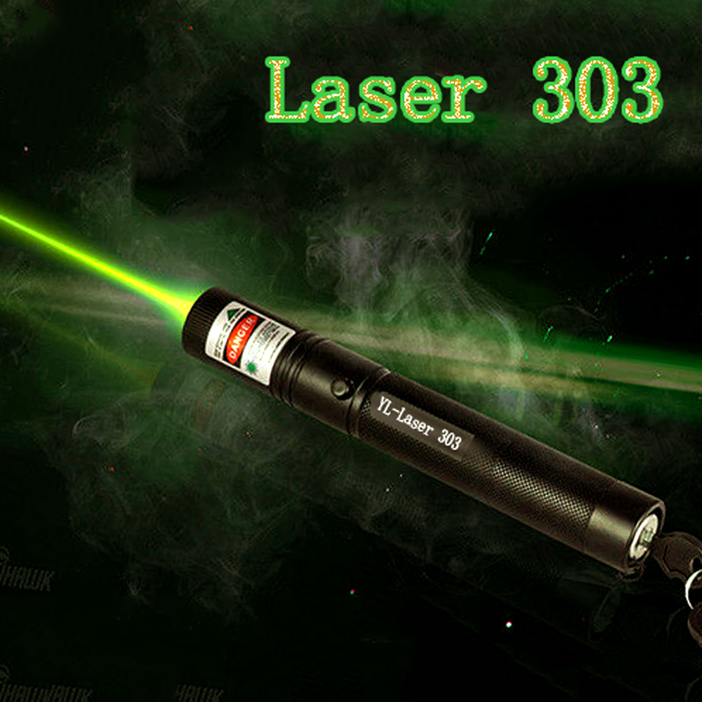 Laser Pointer Green 532nm 5mW 303 Laser Pen High Power Adjustable Starry Head Burning Match lazer Without Battery