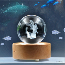 3D Crystal Dolphin Ball LED Lamp 7 Color Night Light Table Lamp Kids Xmas Gift Bedside Home Decoration Baby whale novelty Light