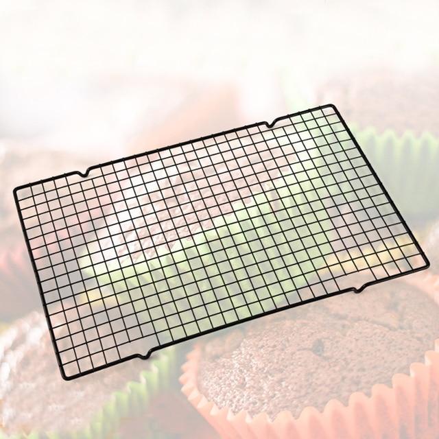 Углеродистая сталь проволочная сетка классный стеллаж для барбекю торта охлаждающая полка безопасная духовка кухонные инструменты для вы...