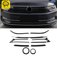 CARMANGO for VW Volkswagen Passat B8 2017 2019 Car Front Hood Middle Net Grille Grill Frame Cover Sticker Exterior Accessories