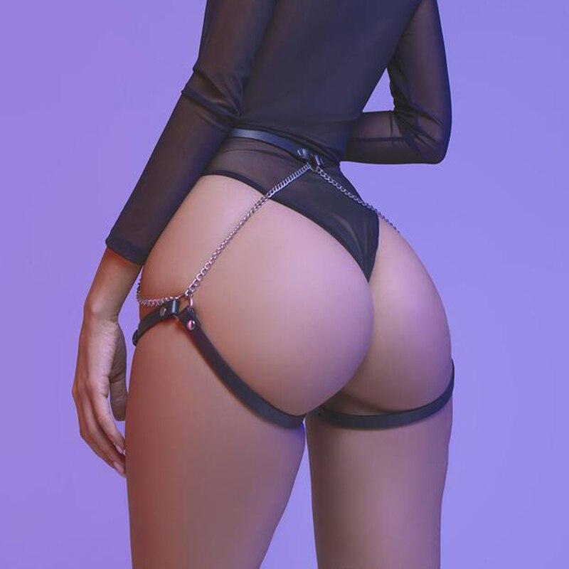 CKMORLS БДСМ кожа ног портупея костюм для панков для ускорения Секс-игрушки женские чулки Связывание Готический пикантные нагрудный ремень дл...