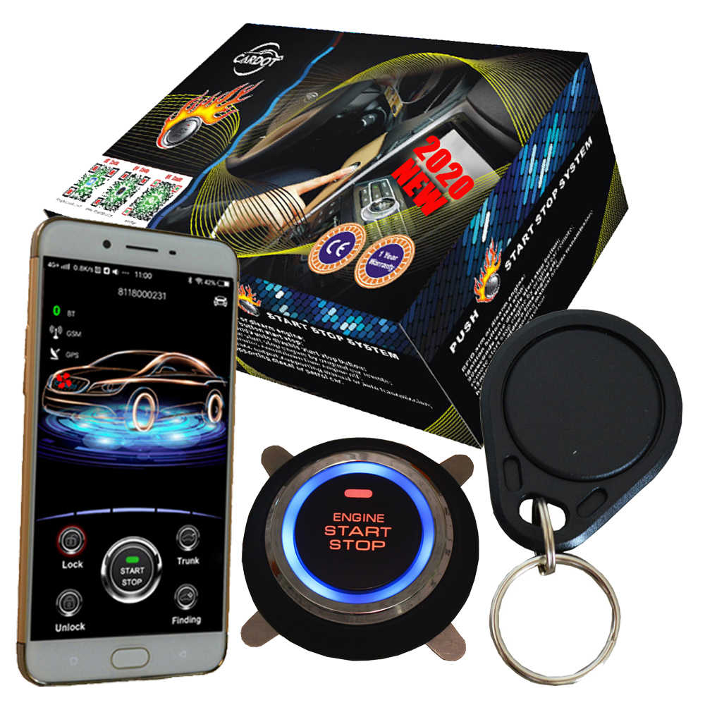 Rfid-двигатель start stop kit работает с aftermarket автомобильная сигнализация автомобильное мобильное приложение в режиме реального времени онлайн отслеживание автомобиля в google Maps