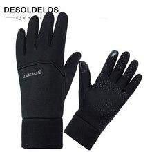 DesolDelos Windproof Cycling Gloves Men Women Touch Screen Sports Motorcycle Sport Full Finger Non-slip Luvas