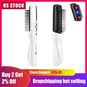 US Stock Electric Infrared Laser Hair Growth Comb Hair Care Styling Hair Loss Growth Treatment Infrared Device Massager Brush(China)