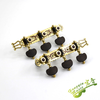 1 Pair Pure Copper Inlay Wood Grain 3 Machine Heads Classical Guitar String Tuning Keys Pegs Tuning Peg Guitar Parts Accessories