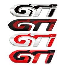 3d металлический Автомобильный логотип gti Эмблема наклейка