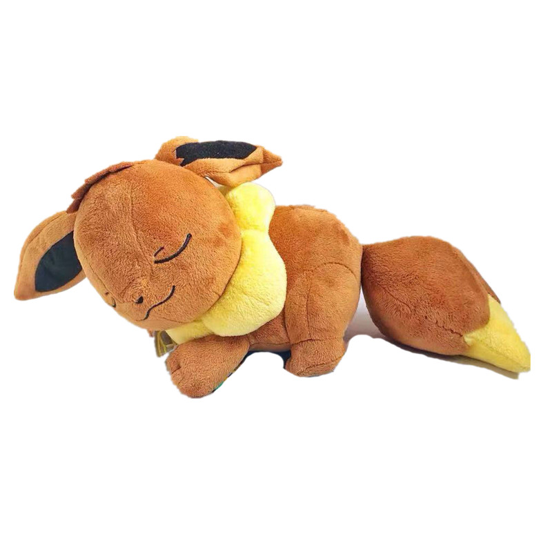 Anime Games Pikachu Series 35CM Sleep Eevee Plush Toy Stuffed Toys Soft Pillow A Birthday Present For Children
