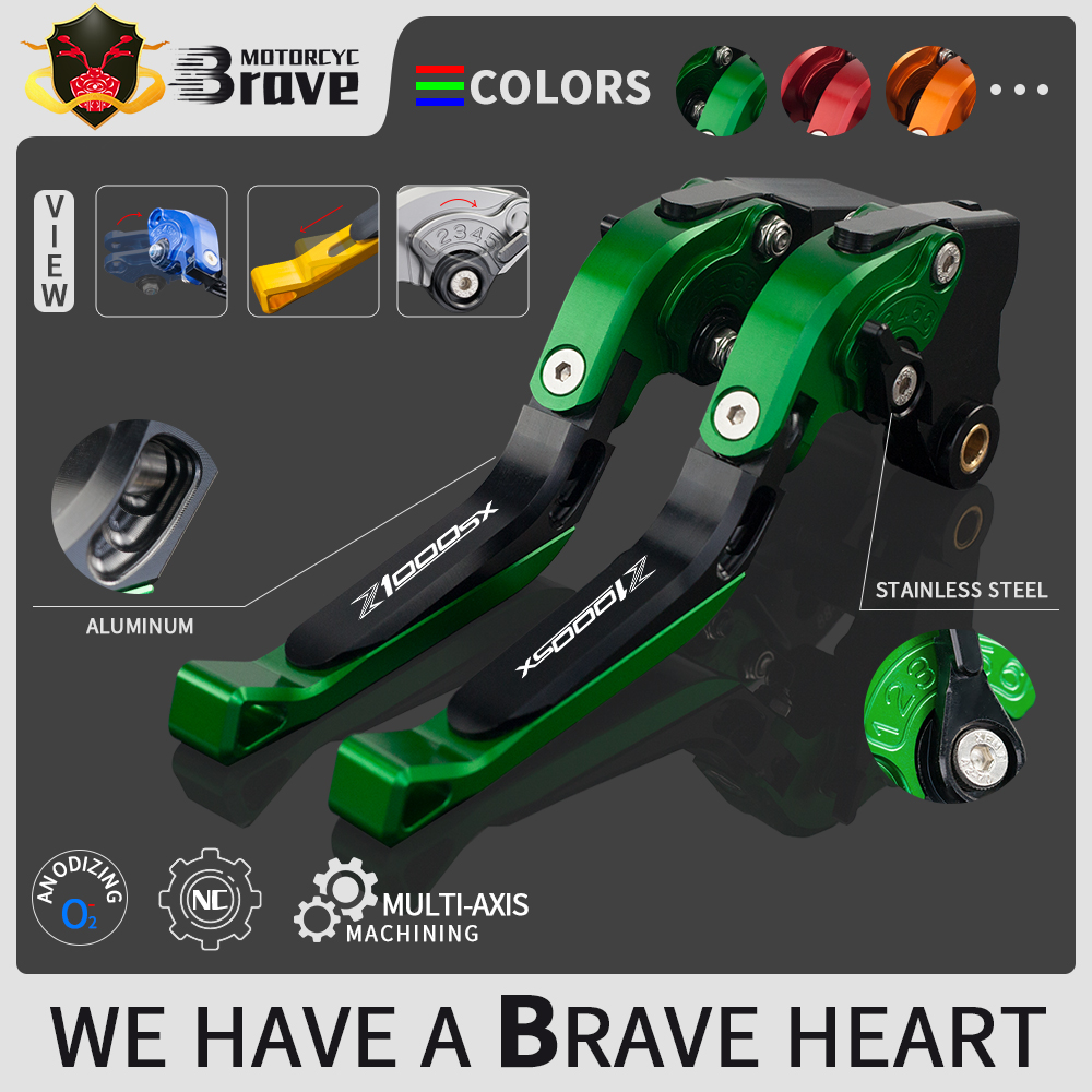For <font><b>Kawasaki</b></font> <font><b>Z1000SX</b></font>/NINJA 1000/Tourer Z1000 SX 2017 2018 <font><b>2019</b></font> Motorcycle brake lever Adjustable Brake Clutch Levers Handle image