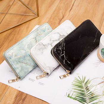 Women's Wallet PU Wallet Marble Pattern Wallet Long Clutch Carteira Portfel Cartera Mujer Wallet Women Wallet Card Holder фото