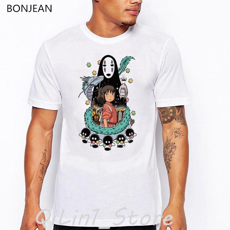 Totoro Miyazaki Hayao Anime t shirt men Spirit Away Studio Ghibli cartoon print t-shirt camisetas hombre funny shirts