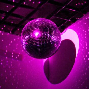 Thrisdar Rotating Glass Disco Mirror Ball Dia15CM 20CM 25CM 30CM Holiday Party Wedding Reflective Hanging Disco Ball Light