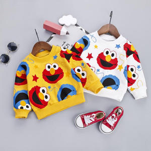 Fashion Baby Pullover Autumn Cartoon Pattern Boys Sweatshirts Newborn Soft Top Spring Hoodies For 9M-4T Toddler Outerwear