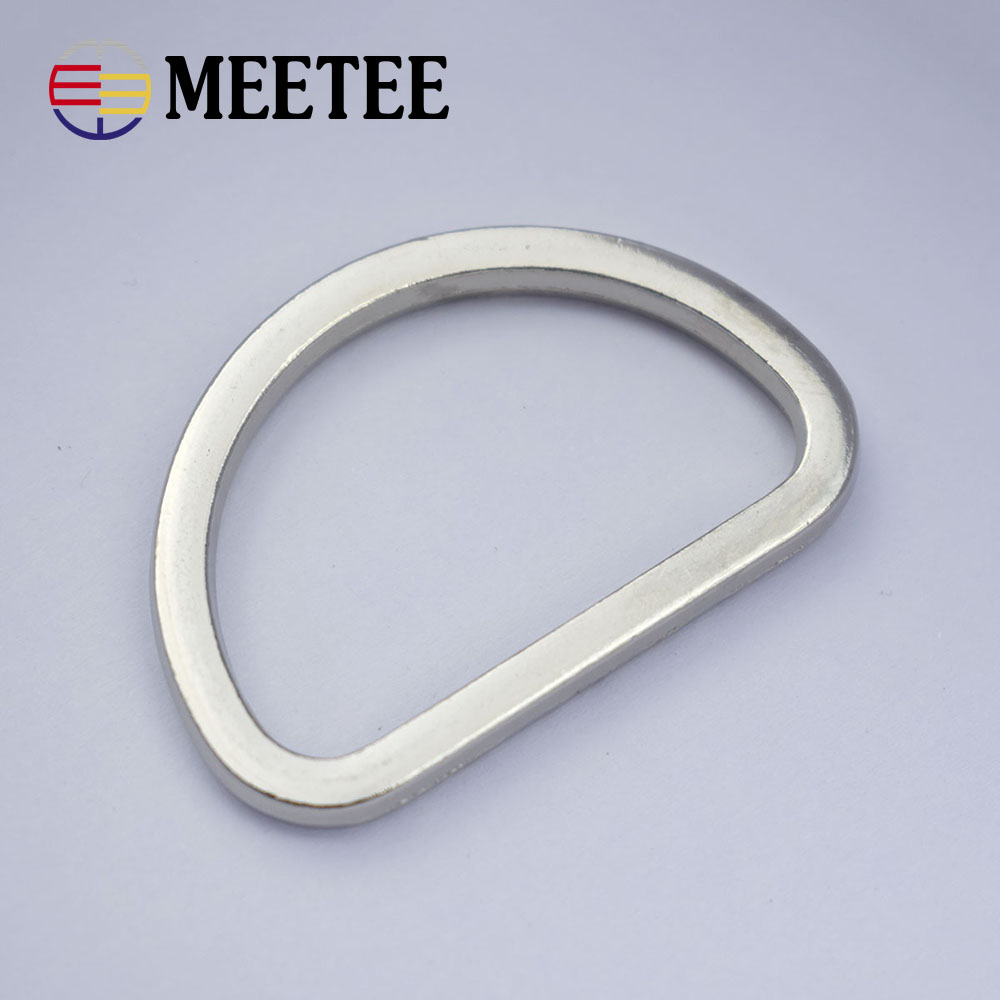 10pcs Meetee 25mm 38mm Rings for Non Welded D ring Silver D Rings Webbing Strapping Bags Handbag Hardware Accessories G7 3 in Buckles Hooks from Home Garden
