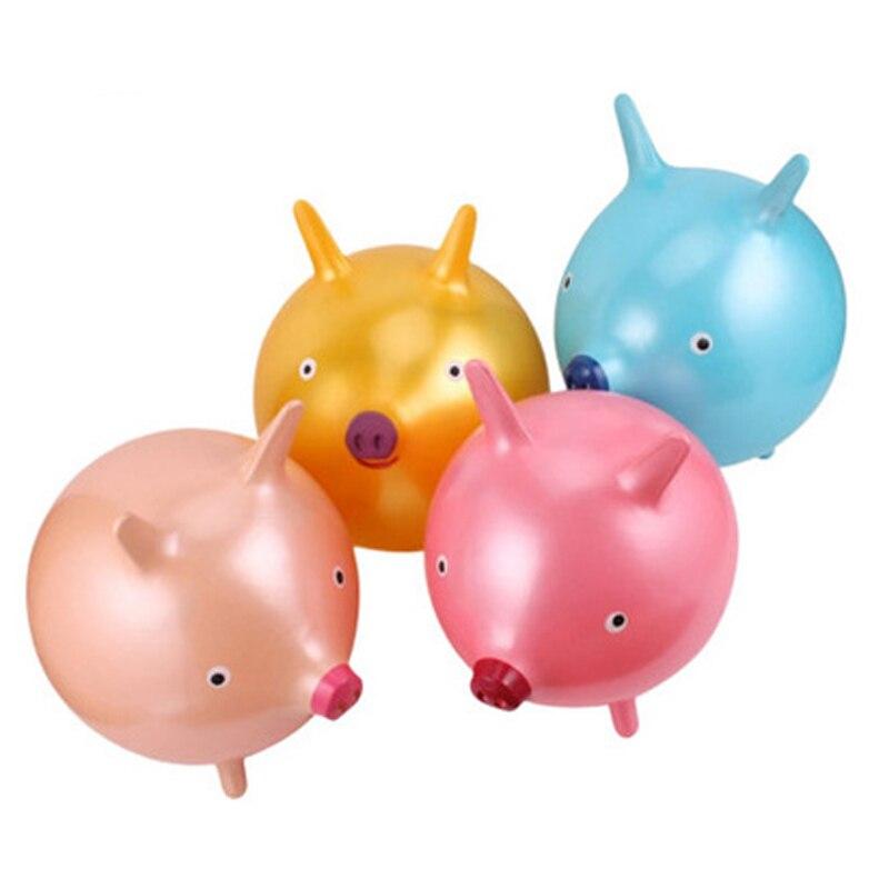 18 pouces enfants sauter balle espace trémie gonflable rebondissant mignon cochons Smiley visage bébé enfants sport jouets