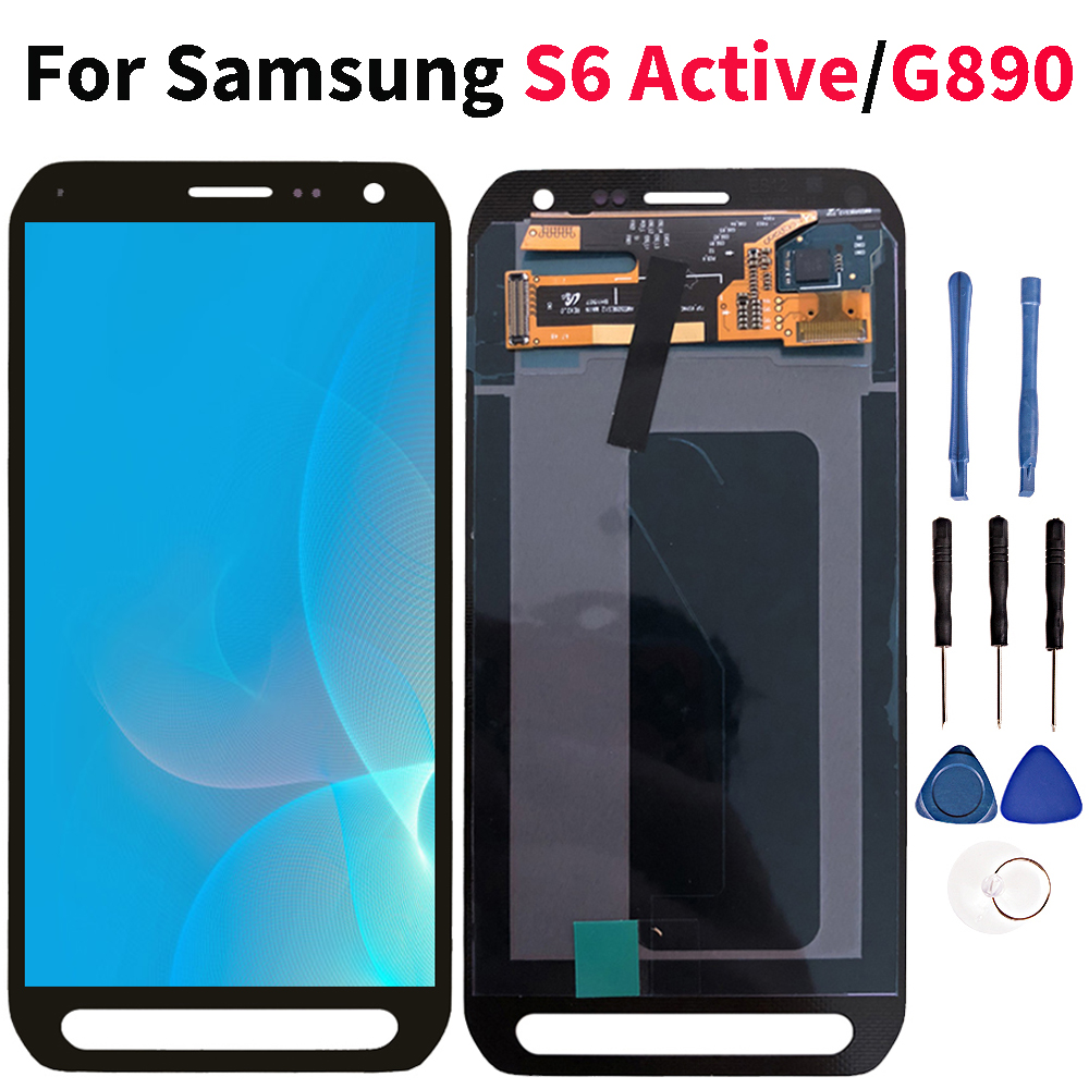 Lcd For Samsung Galaxy S6 Active LCD Touch Screen Digitizer Display G890 G890A SM G890 Assembly Replacement-in Mobile Phone LCD Screens from Cellphones & Telecommunications    1