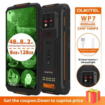 OUKITEL WP7 6.53 Inch Android 9.0 Rugged Mobile Phone IP68 Waterproof MTK6779 Octa Core Smartphone 8GB 128GB Global Dual 4G LTE