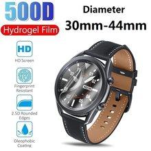 2x smartwatch relógio redondo protetor de tela diâmetro 30 31 33 35 37 39 40 42 43 44mm película protetora folha guarda para relógio inteligente
