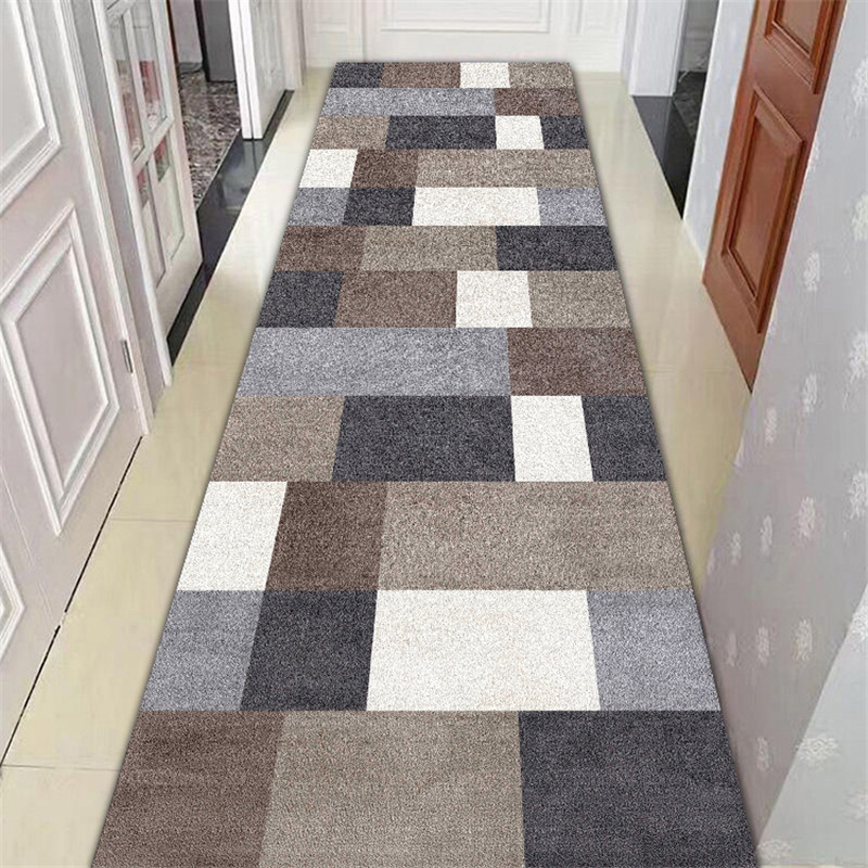 Long Stair Carpet Nordic Home Bedroom Hallway Carpet Corridor Rug Geometric Aisle Floor Mat Bedside Window Rugs Long Carpet