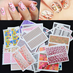 Paper 50 Flower-Stickers Adhesive Manicure Zhang-A-Set Mixed of Watermark
