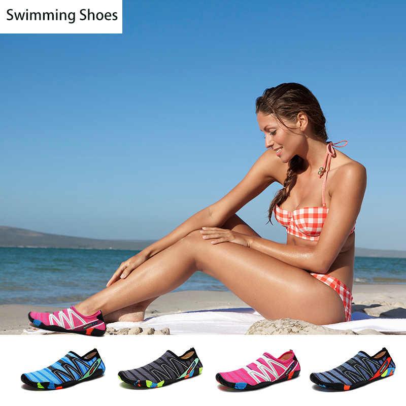 Antideslizante água sapatos Meia Aqua Praia respirável para homens mulheres Casal Amante