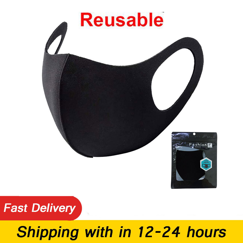 Маска из ледяного шелка, противопыльная хлопковая маска для рта, противотуманная черная стерео 3D маска, респиратор для мужчин, женщин, мужчи...