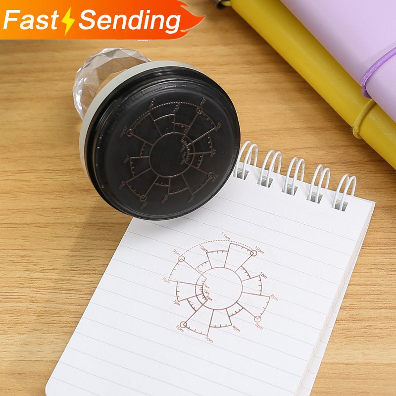 1pc Time Date Plan Photosensitive Seal Creative Schedule Planner Scrapbooking Stamp Clear Stamps Office Supplies DIY