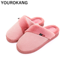 Winter Women Shoes Warm Female Home Slippers Indoor Bedroom Floor Flip Flops Soft Plush Cotton Shoes High Quality Couple Slipper