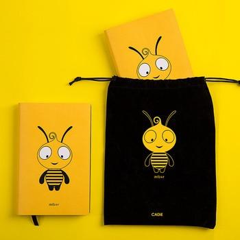 цена Kawaii Bee A6 Planner Organizer Cute Diary Notebook and Journal Mini Horizontal Line DIY Agenda Travel Weekly Note Book School онлайн в 2017 году