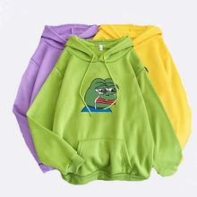 Толстовки с рисунком лягушки Харадзюку объемный пуловер аниме