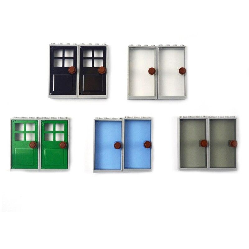10 шт двери и окна для дома MOC аксессуары строительные блоки наборы кирпичные модели DIY игрушки для детей Совместимые все бренды