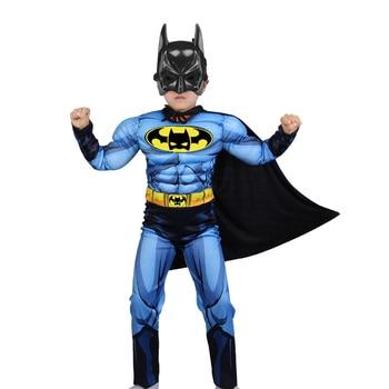 Halloween Anime batman costume cosplay Mask cloak and Mask Cloak Boy Superhero Cosplay Masquerade Party Superman Costume the batman bruce wayne latex mask superhero movie cosplay costume halloween party masks