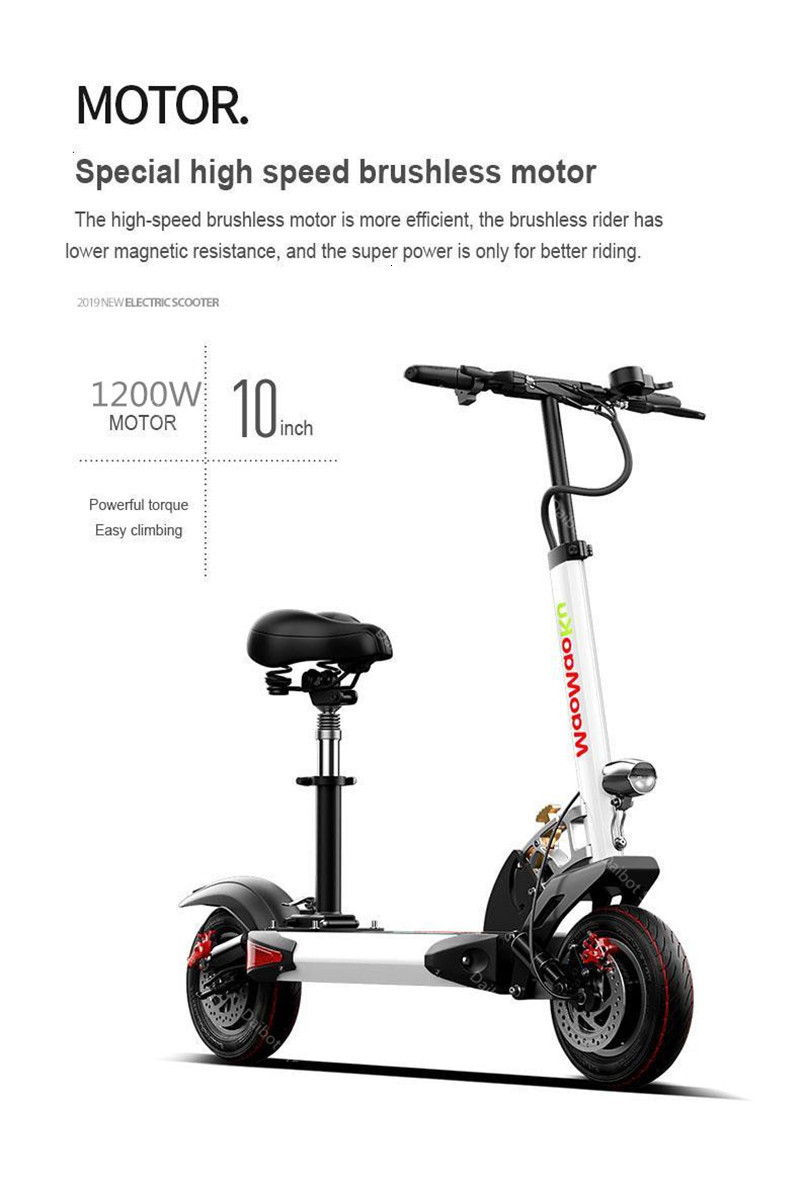 1200W 60V Electric Scooters Adults Two Wheels Electric Scooters High Speed 60KMH Folding Powerful Electric Bike With Seat (17)