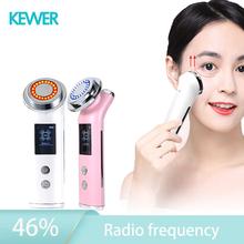 RF elektroporacji czerwony terapia światłem 5 w 1 Led napinanie skóry częstotliwości radiowej Anti-Aging skóry narzędzia do pielęgnacji do fototerapii tanie tanio KEWER akumulator CN (pochodzenie) masaż wibracyjny do czyszczenia twarzy Galwaniczny jon + - Do ujędrniania skóry Odmładzanie skóry