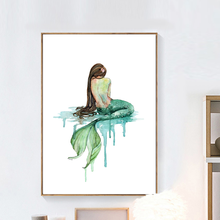 Настенная картина на холсте Девушка Русалка Принцесса скандинавские