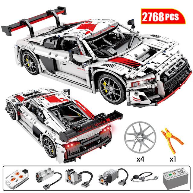 2768pcs City Remote Control Sports Vehicles Building Blocks Creator COM Technic RC/non-RC Racing Car Model Bricks Toys for Kids