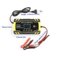 Carro Motocicleta 12V 8A 24V 4A Reparação Carregador de Bateria Com Display Lcd de Pulso Chumbo Ácido Agm Gel Molhado carregador de bateria -