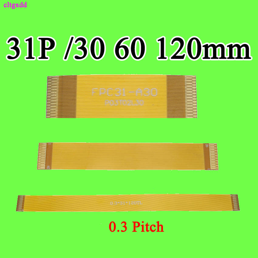 30mm 60mm 120mm 150MM 0.3 Pitch Type A MiPi 31P FPC Cable 6cm Spacing 0.3mm FFC FPC Line Cable Gold Plated 31 Pin Line Wire