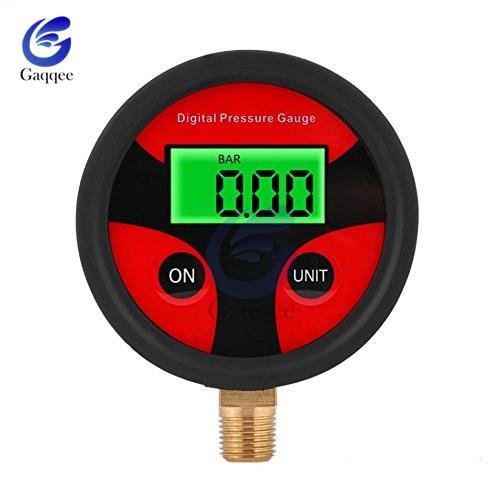 0-200PSI Air Pressure Gauge Dial Meter Tester Copper Rubber Digital Tire Pressure Gauge Tool For Car Truck Bike Auto Car Tyre
