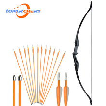 Outdoor bow and arrow set left hand bow Recurve Bow for Archery Bow Shooting Hunting Game Outdoor Sports bow