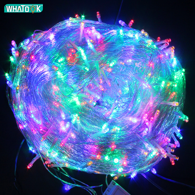10m 20m 50m 100m Fairy Light LED String Lights Garland Wedding Christmas Lamp Decoration Outdoor Indoor Curtain Bars Home Party