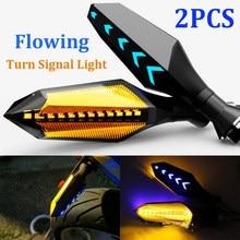 2PCS LED Motorcycle Turn Signal Arrow Light 12V Tail Flasher Flowing Water Indicator Blinker Motorcycle Flashing Rear Lights